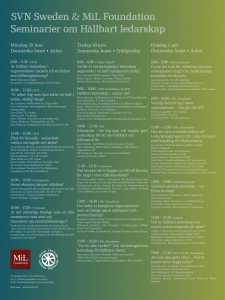 Program Almedalen 2015: SVN Sweden & MiL Foundation